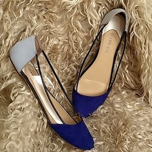 Gianni Bini Suede and plastic flats